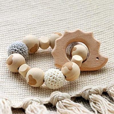Baby Love Home Hedgehog Wooden Teether