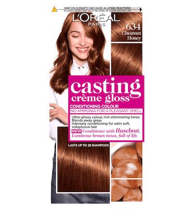 L'Oreal Casting Creme Gloss 634 Chestnut Honey Brown Semi Permanent Hair Dye