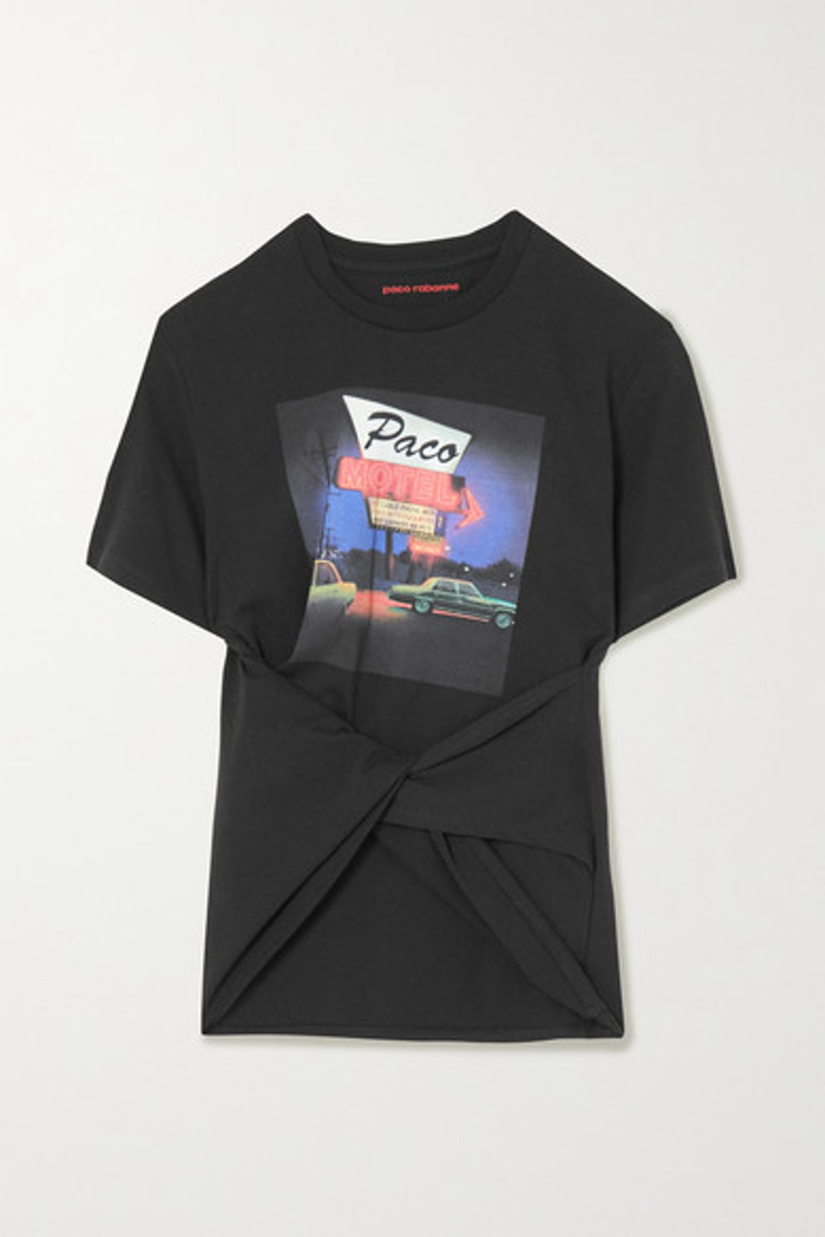 Twisted Printed Cotton-Jersey T-shirt