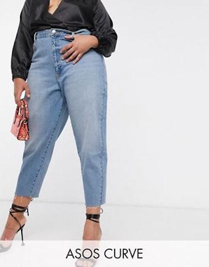 ASOS Design Curve Balloon Leg Boyfriend Jeans