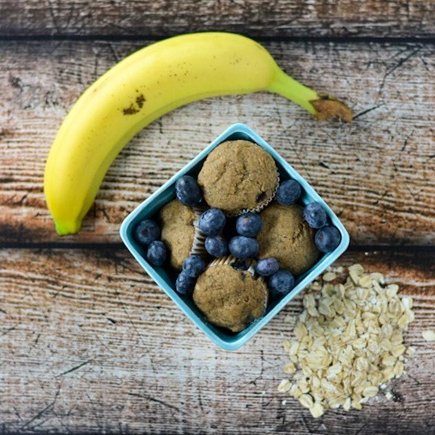 Berrylicious Blueberry Banana Muffins