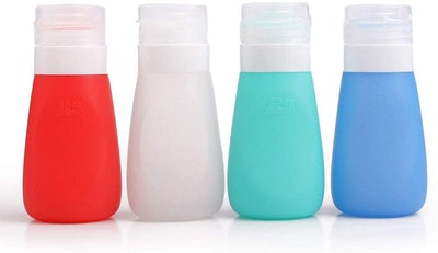 YINGGG Squeezy Portable Salad Dressing Bottles (2.8 Ounces, 4-Pack)
