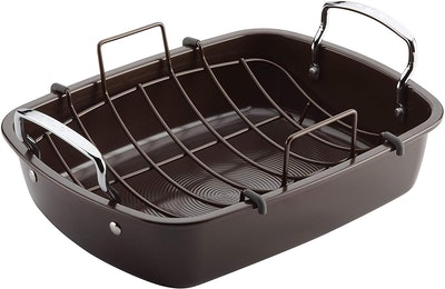 Circulon Nonstick Roasting Pan With Rack (17 Inches)