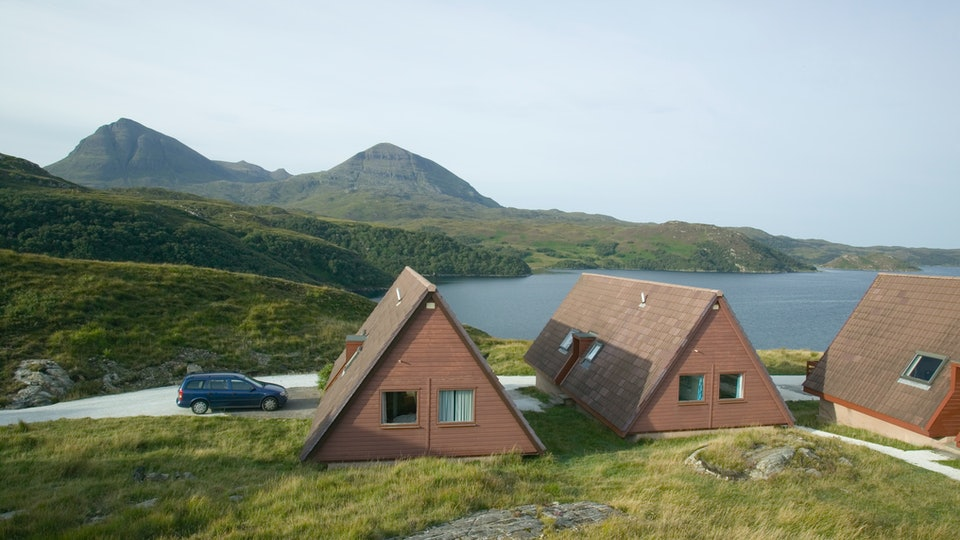 Cabins in a remote fishing town
