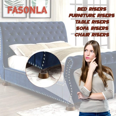 FASONLA Wooden Bed Risers (8-Pieces)