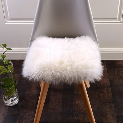 Softlife Square Faux Fur Sheepskin Chair Cover