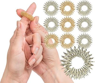 Spiky Sensory Finger Rings (10-Pack)