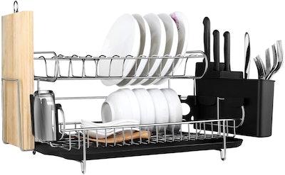 E-Gtong 2 Tier Dish Drying Rack