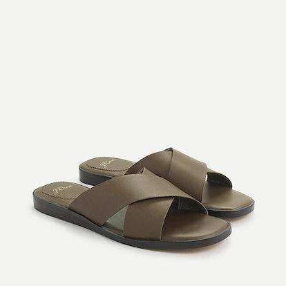 Gretchen Cross-Strap Sandals