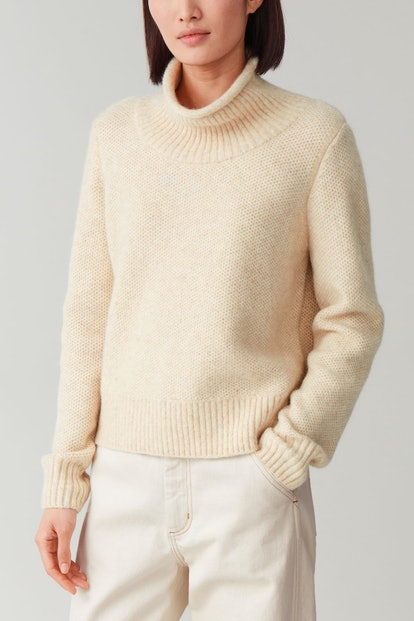 Moss-Stitched Alpaca-Yak Sweater