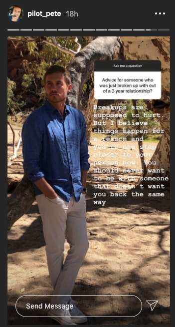 Peter Weber gives breakup advice to Bachelor fans.
