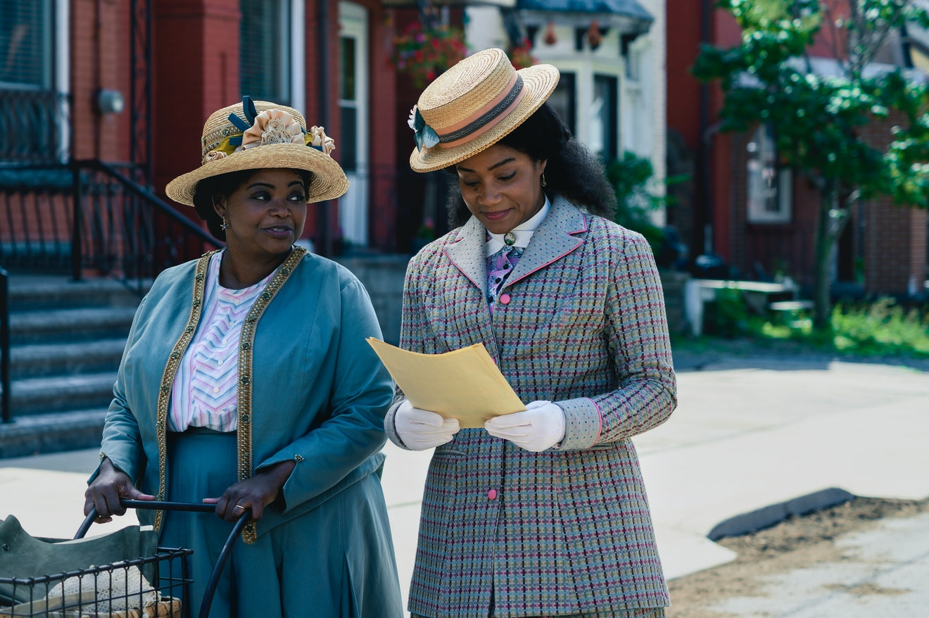 Octavia Spencer as Madam C.J. Walker and Tiffany Haddish as Lelia Walker in Netflix's Self Made: Inspired By The Life of Madam C.J. Walker.