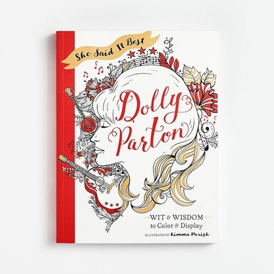 Dolly Parton She Said It Best Coloring Book