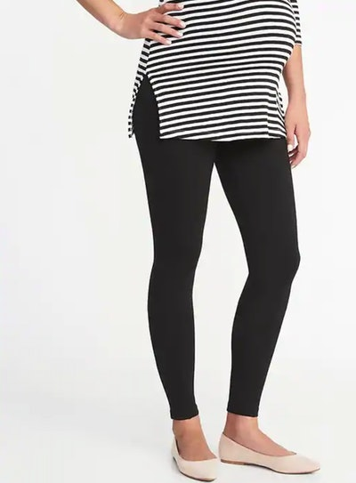 Maternity Stevie Full-Panel Ponte-Knit Pants - Black Jack