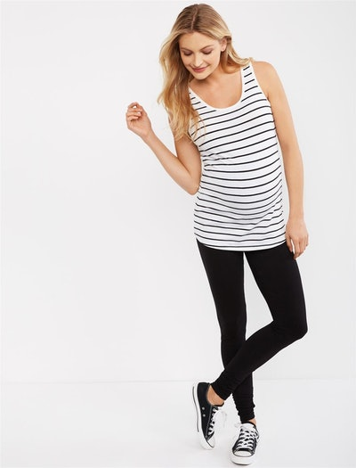 Essential Stretch Secret Fit Belly Ruched Detail Maternity Leggings