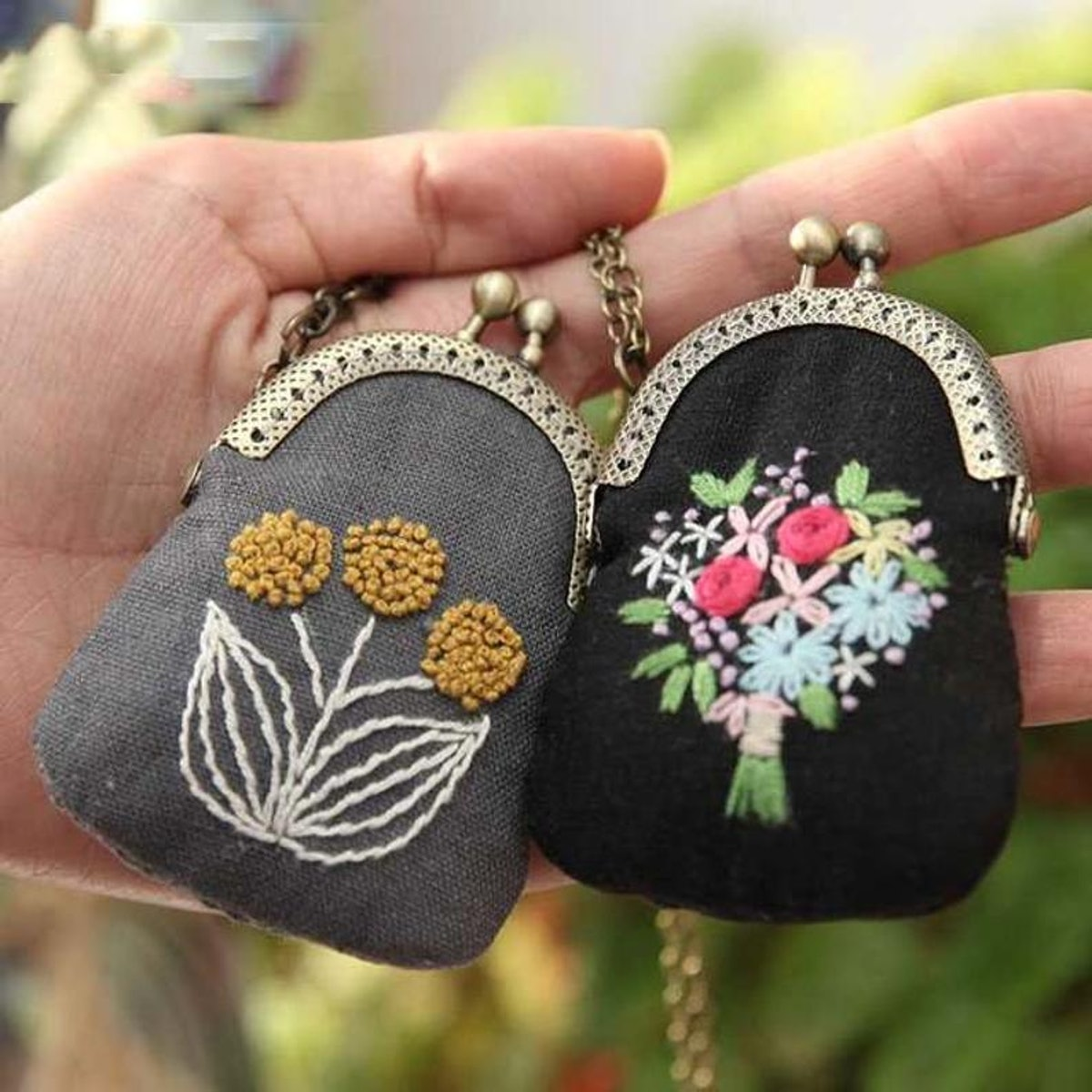 Embroidered Flower Purse DIY Craft Kit