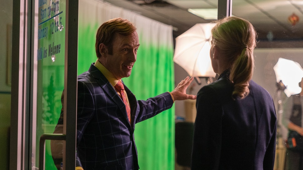 Bob Odenkirk as Jimmy McGill and Rhea Seehorn as Kim Wexler in Better Call Saul