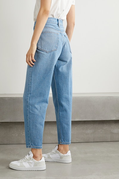 40s Zoot Pleated High-Rise Tapered Jeans