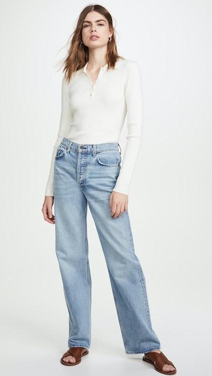 Slouchy Wide Leg Jeans