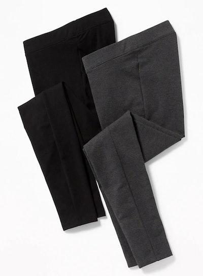 Maternity Front Low Panel Leggings 2-Pack