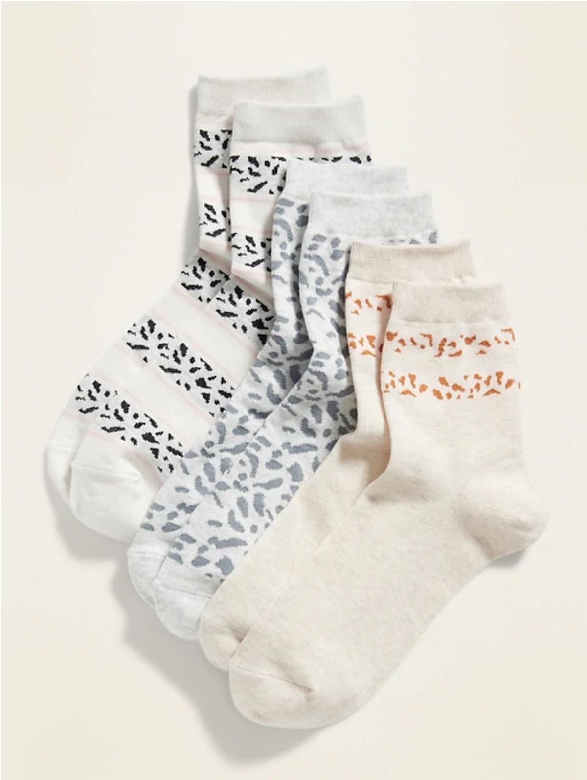 Old Navy Quarter Crew Socks 3-Pack for Women