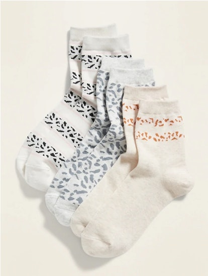 Old Navy Quarter Crew Socks 3-Pack for Women