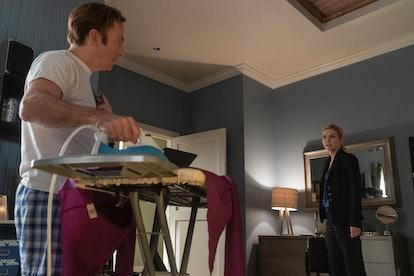 Bob Odenkirk as Jimmy McGill and Rhea Seehorn as Kim Wexler in Better Call Saul