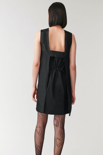 Sleeveless Dress with Silk Organza