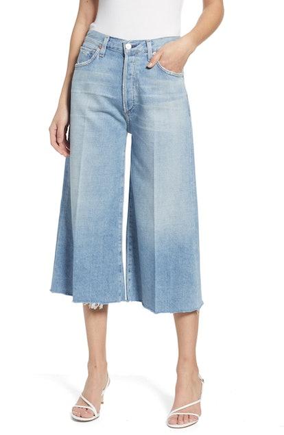 Emily High Waist Wide Leg Culotte Jeans