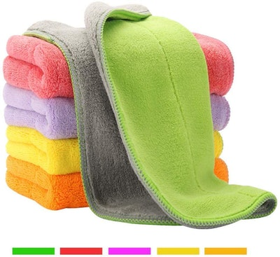 HOUSE AGAIN Microfiber Cleaning Cloths (5-Pack)