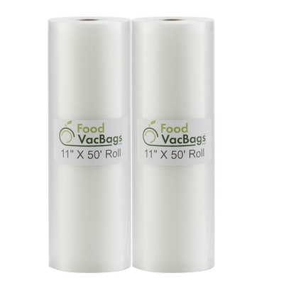 FoodVacBags Vacuum Sealer Rolls (2-Pack)