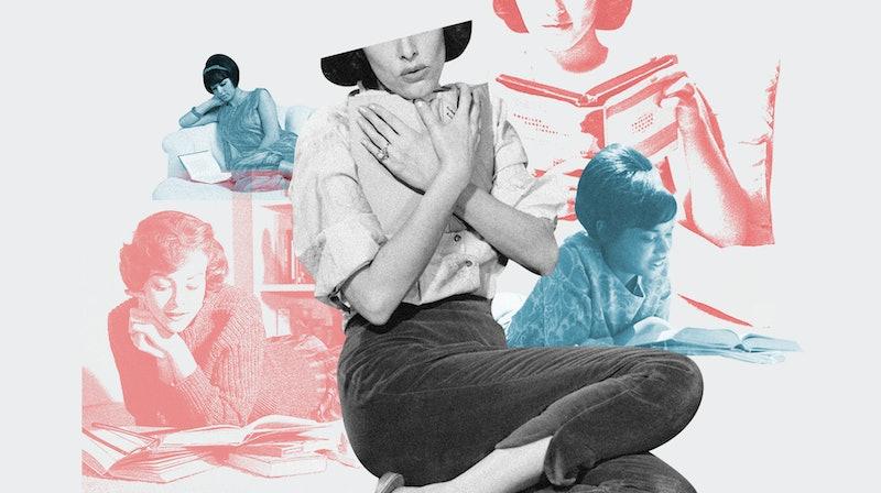 vintage women reading books