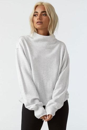 Oversized Turtleneck Sweatshirt