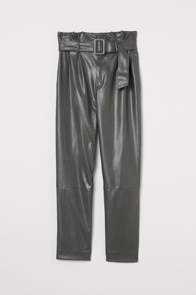 H&M Ankle-Length Pants with Belt