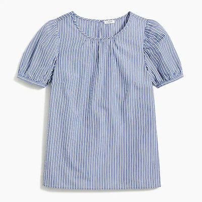 Striped puff-sleeve top