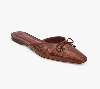 Gina Mule Brown Croc Embossed