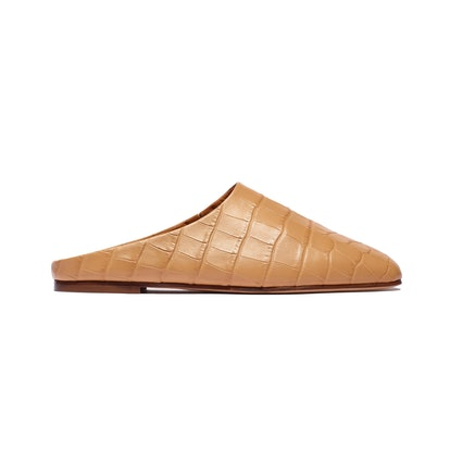 Glider in Tan Embossed Croc