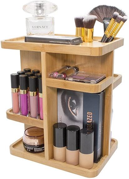 360° Bamboo Cosmetic Organizer