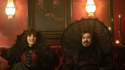 Natasia Demetriou and Matt Berry in What We Do In The Shadows