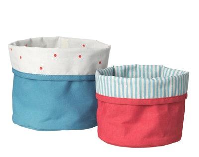 NÖJSAM Basket, set of 2, red, blue