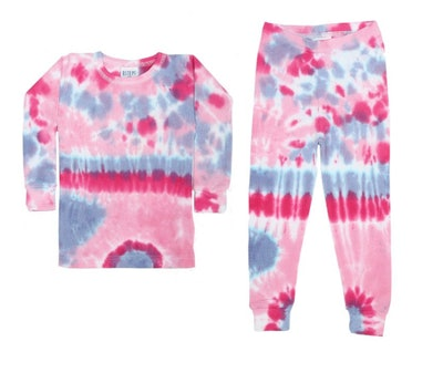 Baby Steps Tie Dye Thermal Pajamas