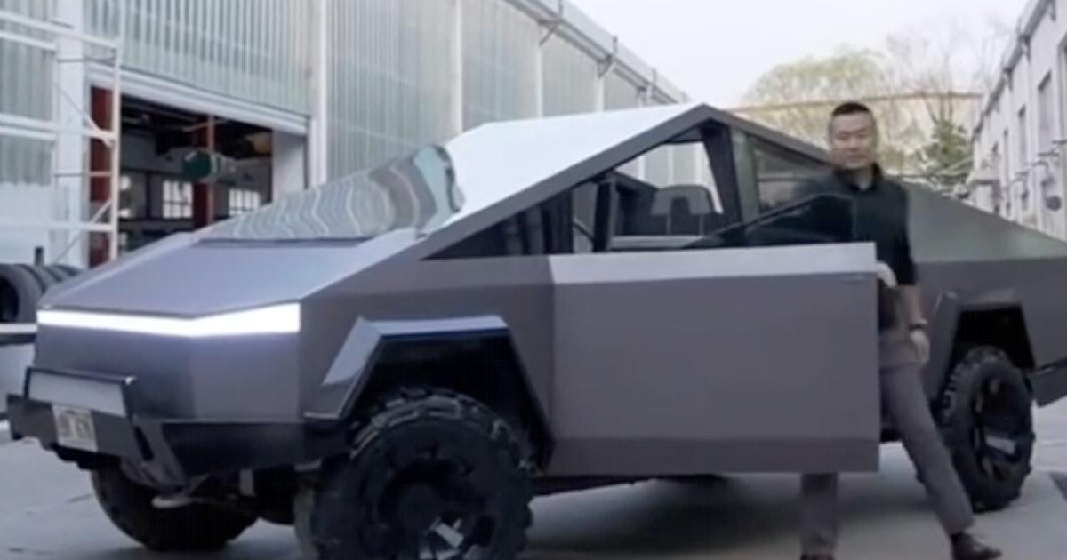 Fan-made Tesla Cybertruck has the style of Elon Musk's EV but with no wait