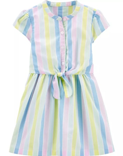 Striped Bow Dress in Multi