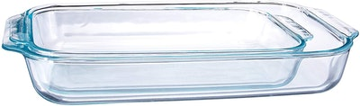 Pyrex Basics Clear Glass Baking Dishes (2-Pack: 13 by 9 inches, and 11 by 7 inches)