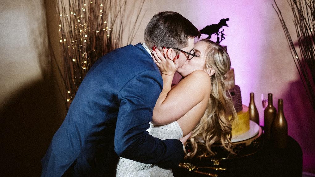 Rachel Varina kisses husband at October wedding in Tampa, Florida