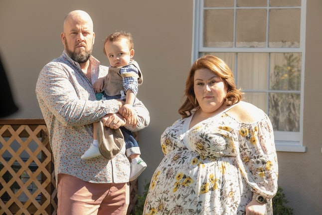 Kate, Toby, and Baby Jack on This Is Us
