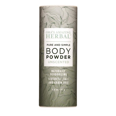 Ora's Amazing Herbal Pure & Simple Body Powder, Unscented (2.5 Oz.)