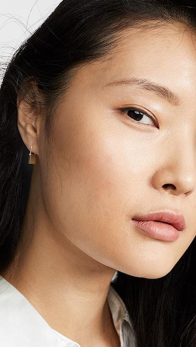 Women's 14k Single Gold Lock Earring