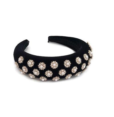 Padded Velvet Embellished Headband