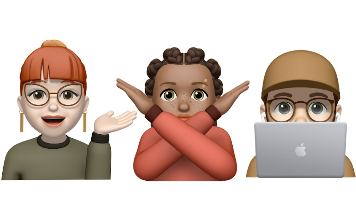 The new Memoji stickers in Apple's iOS 13.4 update include a few options with different hand gestures.
